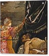 Judith And Holofernes Acrylic Print
