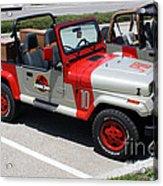 Jurassic Park Jeeps Acrylic Print