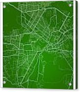 Kabul Street Map - Kabul Afghanistan Road Map Art On Colored Bac Acrylic Print