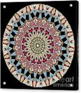 Kaleidoscope Colorful Jeweled Rhinestones Acrylic Print