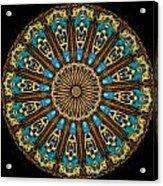 Kaleidoscope Steampunk Series Triptych Acrylic Print