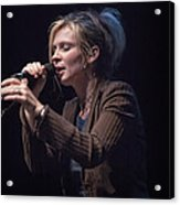 Karin Bergquist Lead Singer Of Over The Rhine Acrylic Print