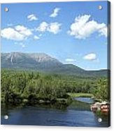 Katahdin From Abol Bridge Acrylic Print