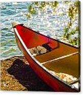 Kayak By The Water Acrylic Print