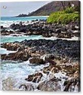 Keanae Lava Rock Acrylic Print