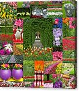 Keukenhof Gardens Collage Acrylic Print
