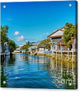 Key Largo Canal 3 Acrylic Print