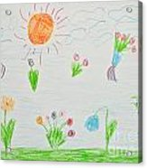Kid's Artwork Acrylic Print