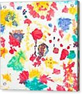 Kid's Artwork Colorful Background Acrylic Print