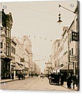 King Street In Charleston South Carolina Circa 1910 Acrylic Print