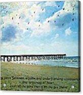 1 Kings 4 29 Pier Acrylic Print