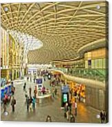 Kings Cross Railway Station London  Acrylic Print