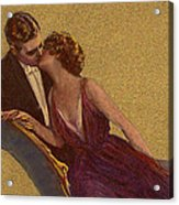 Kissing On The Chaise-longue Valentine Acrylic Print