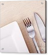 Knife Fork And Plate Acrylic Print