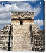 Kukulkan Pyramid At Chichen Itza Acrylic Print