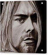 Kurt Cobain Acrylic Print by Michael Mestas