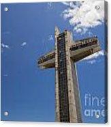 La Cruz Del Vigia Against Blue Sky In Ponce Puerto Rico Acrylic Print