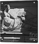 Lady With The Book Acrylic Print by Four Hands Art