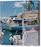 Lahaina Marina Maui Hawaii Acrylic Print