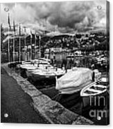 Lake Maggiore Bw Acrylic Print