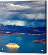 Lake Mead Afternoon Thunderstorm Acrylic Print