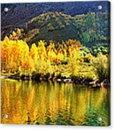 Lake Reflection In Fall  Acrylic Print