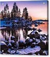 Lake Tahoe Winter Sunset Acrylic Print