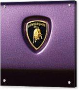 Lamborghini Diablo Se Roadster Emblem Acrylic Print