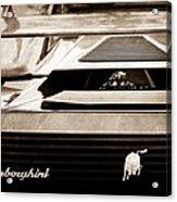 Lamborghini Rear View Emblem Acrylic Print