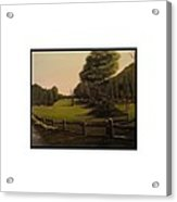 Landscape Of Duxbury Golf Course - Image Of Original Oil Painting Acrylic Print