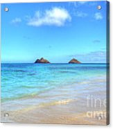 Lanikai Beach Oahu Hawaii Acrylic Print by Kelly Wade