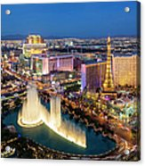 Las Vegas Skyline  At Dusk Acrylic Print