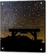 Last Dollar Gate And Milky Way Starry Acrylic Print
