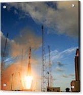 Launch Of Soyuz Vs07 2014 Acrylic Print