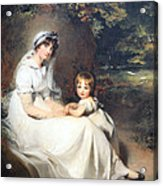 Lawrence's Lady Mary Templetown And Her Eldest Son Acrylic Print