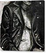 Leather Jacket Acrylic Print