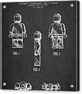 Lego Toy Figure Patent - Dark Acrylic Print by Aged Pixel