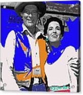 Leif Erickson Linda Cristal The High Chaparral Set Publicity Photo Old Tucson Arizona C. 1967-2012 Acrylic Print