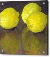 Three Lemons Acrylic Print