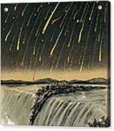 Leonid Meteor Shower Of 1833 Acrylic Print