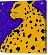 Leopard At Midnight Acrylic Print