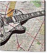 Les Paul On Austin Map Acrylic Print