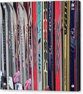 Lets Ski Acrylic Print