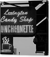 Lexington Candy Shop In Black And White Acrylic Print