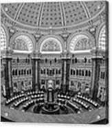 Library Of Congress Main Reading Room Acrylic Print by Susan Candelario