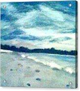 Lido Beach Evening Acrylic Print