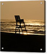 Lifeguard Chair In The Morning Acrylic Print