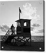 Lifeguard Hut On The Beach, 22nd St Acrylic Print