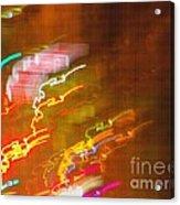 Light Painting - Paris - France  Acrylic Print by Francoise Leandre