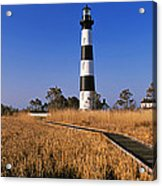 Lighthouse In A Field, Bodie Island Acrylic Print